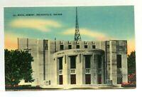 Indianapolis Indiana Naval Armory Linen Vintage Postcard