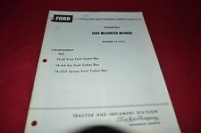 Ford Tractor  Side Mounted Mower 14-233 Operator's Manual CHPA