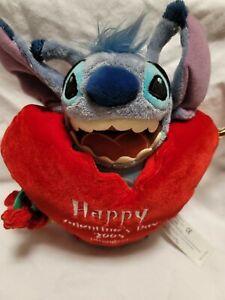 2005 Happy Valentine's Day Stitch Lilo Disneyland WDW Cupid Love heart bean mbbp