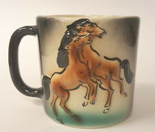 Wild Dancing Horses Pottery Coffee Mug B79