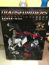 TRANSFORMERS GENERATION 2009 VOL 1 CATALOGO CATALOGUE BANDAI TAKARA POPY HASBRO