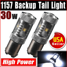 2x 7000K White 1157 BAY15D High Power 30W Car Parking Led Light Bulb 2357 2057A