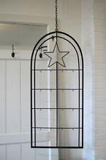 Fenster Rahmen schwarz Stern Metall Fenster-Deko Weihnachtsdeko Winter-Deko 90cm