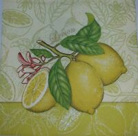 4 x Single Paper Napkins Yellow Lemon for DECOUPAGE and CRAFTS-15