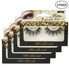 MISS LASHES 3D Volume Long Tapered Natural Silk False Eyelash Extension 4 PACKS