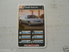 43-LUXURY CARS/AUTO G2 LINCOLN TOWN CAR KWARTET KAART, QUARTETT CARD,