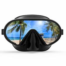 Fxexblin Adults Swim Mask Swimming Goggles with Nose Cover Snorkel Scuba Divi...