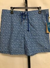 ORIGINAL PENGUIN TURKISH SEAS PRINT VOLLY SWIM SHORTS TRUNKS BLUE SIZE 34 $70