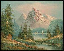 "* paesaggio montano, 10""x8"" dipinto ad olio su tela, dipinto a mano"