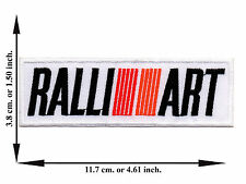 White Ralliart Mitsubishi Car Racing Automobile Motor Applique Iron on Patch