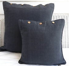 LARGE CUSHION COVER 60 X 60 - 'CHARCOAL' COUCH, DAYBED FLOOR CUSHION COVER