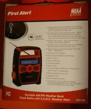 New in Box/First Alert AM/FM weather Band clock radio w/ S.A.M.E Alert