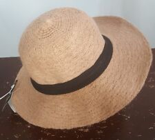 1ba4c022b8ab3 David   Young D Y Womens Panama Hat Camel Tan Wool Casual Wide Brim One ...