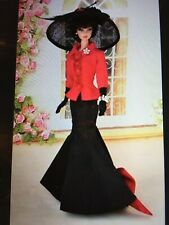 Matisse Barbie Silkstone Fashion Long Black Skirt Red Jacket Feather Hair Piece