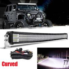 "Quad Row 52Inch Curved Spot Flood LED Light Bar OFFROAD SUV 4WD UTV VS 54/42/20"""