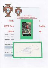 RICARDO Sa PINTO PORTUGAL INTERNATIONAL 1994-2001 ORIGINAL HAND SIGNED CUTTING