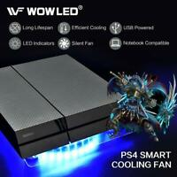 Playstation 4 LED Cooling Fan PS4 Cooler Pad Stand Colorful Console