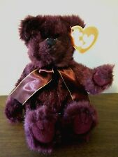 "Burgundy Teddy Bear Ty Attic Treasures Beargundy 1993 Fully Jointed 7"""