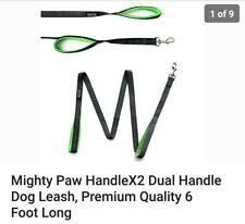 Mighty Paw HandleX2 Dual Handle Dog Leash, Quality 6 Foot Long great for Pullers