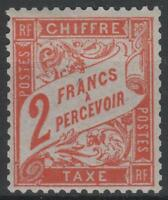"FRANCE STAMP TIMBRE TAXE N° 41 "" TYPE DUVAL 2F ROUGE-ORANGE "" NEUF xx TTB  M630"