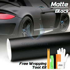 *Premium Matte Black Flat Vinyl Wrap Sticker Decal Film Bubble Free Air Release