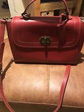 Cath Kidston  Red Leather Shoulder Bag