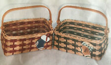 Basket Weaving Pattern Americana Christmas Basket by Julie Kleinrath