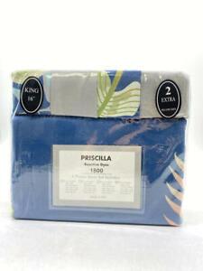 Priscilla Reactive Dyes 6 Pieces Sheet Set- Floral - King