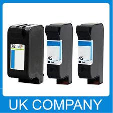 3 Generic Ink Cartridge Set for HP 45 & 78  Deskjet 930C 932c 935c 970Cse