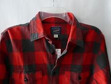 J.Crew Mens Midweight flannel shirt in Red Buffalo check $79.50 New Sz S