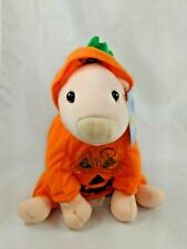 "Babe the Pig Plush 7"" Pumpkin Outfit Costume Toy Works Stuffed Animal"