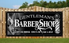 BARBERS, HAIR, GENT'S,  PVC OUTDOOR BANNER RETAIL SHOP BANNERS SIGNS SIGN ADVERT