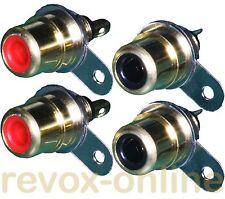 Cinch-Einbau-Buchsen für Revox B77 2 x rot, 2 x schwarz, 2 pair RCA connector