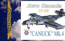 MiniWing Models 1/144 AVRO CANADA CF-100 CANUCK Mk.4 Jet Bomber