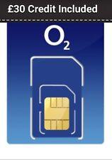 O2 SIM CARD PAYG WITH £30 CREDIT INCLUDED Read Description READY TO GO SIM