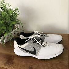 Nike Explorer CTRL 704694-100 White Leather Spikeless Golf Shoes Men's Size 10.5