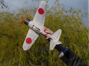 Tony Ray Aero Model Laser Cut Balsa Zero Aircraft Kit w/Motor,Gearbox & Prop DLI
