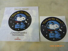 "Omega Speedmaster Professional Moonwatch Snoopy ""Eyes on the Stars"" stickers."