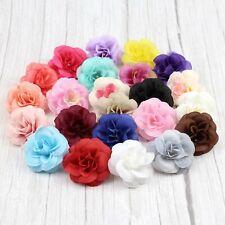 50PCS/Lot 4.5cm Rose Flower Head Artificial Flowers Silk For Wedding Party Decor