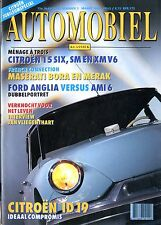1994 HET AUTOMOBIEL KLASSIEK MAGAZIN 3 CITROËN 15 SIX MASERATI BORA & MERAK