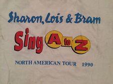 Sharon Lois & Bram Sing A to Z Elephant Records T-shirt 1990 Tour puppet retro