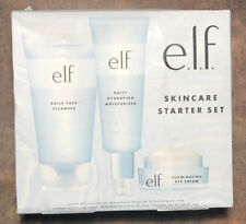 e.l.f Skin Care Starter Set Cleanser Moisturizer & Eye Cream 3 Piece Set