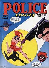 Police Comics #19 Photocopy Comic Book, Plastic Man, The Spirit, Phantom Lady