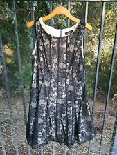 Black Lace Lined Dress Wedding Cocktail Party Classy & Romantic Sz 14 FREE SHIP