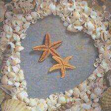2 Serviettes en papier étoile de Mer Coeur Decoupage Paper Napkins Heart