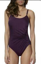 Calvin Klein Purple One Piece Swimsuit 50+ UV Protection  Size 10