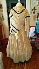 New listing 4 Piece Preowned Civil war, old West, Reenactor, Victorian Dress
