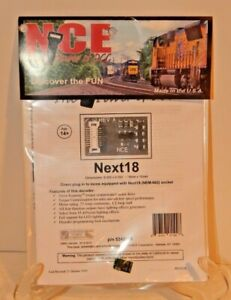NCE #178 Next18 HO DCC Decoder for HO engines w/Next18 (NEM-662) socket NEW