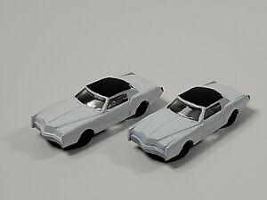 Lot Of 2 Bachmann Ho Scale Cadillac White - Plastic - 1:87 - No Box