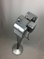 1950s RCA Drive-In Movie Speaker Set With Silver Powder Coated Metal Pole & Base